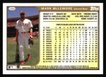 1999 Topps #396  Mark McLemore  Back Thumbnail