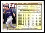 1999 Topps #120  Matt Williams  Back Thumbnail