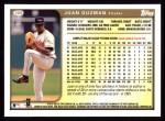 1999 Topps #309  Juan Guzman  Back Thumbnail