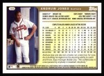 1999 Topps #195  Andruw Jones  Back Thumbnail