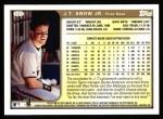 1999 Topps #127  J.T. Snow  Back Thumbnail