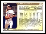 1999 Topps #182  Ismael Valdes  Back Thumbnail