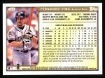 1999 Topps #328  Fernando Vina  Back Thumbnail