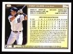 1999 Topps #292  Tony Clark  Back Thumbnail