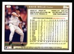 1999 Topps #10  David Wells  Back Thumbnail