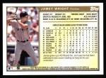 1999 Topps #197  Jamey Wright  Back Thumbnail