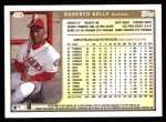 1999 Topps #116  Roberto Kelly  Back Thumbnail
