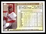 1999 Topps #116  Roberto Kelly  Back Thumbnail