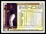 1999 Topps #26  Ken Hill  Back Thumbnail