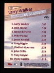 1999 Topps #221   -  Larry Walker League Leaders Back Thumbnail