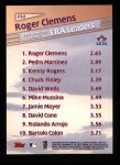 1999 Topps #232   -  Roger Clemens League Leaders Back Thumbnail