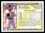 1999 Topps #409  Brian Anderson  Back Thumbnail