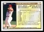 1999 Topps #83  John Wetteland  Back Thumbnail
