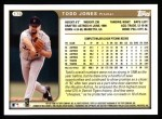 1999 Topps #178  Todd Jones  Back Thumbnail