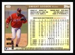 1999 Topps #254  Dwight Gooden  Back Thumbnail