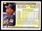 1999 Topps #266  Kevin Young  Back Thumbnail