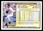 1999 Topps #174  Scott Erickson  Back Thumbnail
