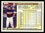 1999 Topps #183  Andy Fox  Back Thumbnail