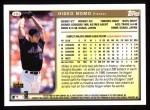 1999 Topps #302  Hideo Nomo  Back Thumbnail