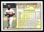 1999 Topps #137  Carl Everett  Back Thumbnail