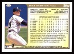 1999 Topps #338  Mike Hampton  Back Thumbnail