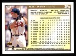 1999 Topps #138  Walt Weiss  Back Thumbnail