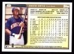 1999 Topps #291  David Ortiz  Back Thumbnail