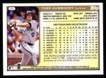 1999 Topps #82  Todd Dunwoody  Back Thumbnail