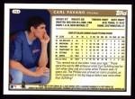 1999 Topps #264  Carl Pavano  Back Thumbnail