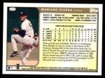 1999 Topps #172  Mariano Rivera  Back Thumbnail
