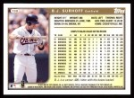 1999 Topps #198  B.J. Surhoff  Back Thumbnail
