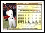 1999 Topps #35  Ray Lankford  Back Thumbnail
