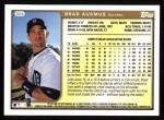 1999 Topps #304  Brad Ausmus  Back Thumbnail
