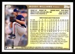 1999 Topps #184  Woody Williams  Back Thumbnail
