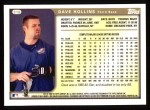 1999 Topps #318  Dave Hollins  Back Thumbnail