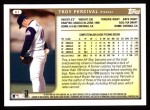 1999 Topps #67  Troy Percival  Back Thumbnail