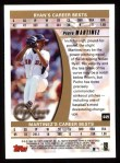 1999 Topps #449   -  Pedro Martinez Strikeout Kings Back Thumbnail