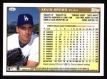 1999 Topps #285  Kevin Brown  Back Thumbnail