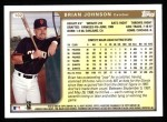 1999 Topps #102  Brian Johnson  Back Thumbnail