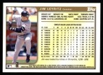 1999 Topps #5  Jim Leyritz  Back Thumbnail