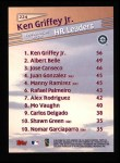 1999 Topps #224   -  Ken Griffey Jr. League Leaders Back Thumbnail