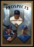 1999 Topps #436  Roosevelt Brown/ Vernon Wells  Front Thumbnail