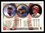 1999 Topps #454  Sammy Sosa / Ken Griffey Jr. / Juan Gonzalez  Back Thumbnail