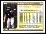 1999 Topps #93  Albert Belle  Back Thumbnail