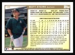 1999 Topps #259  Matt Stairs  Back Thumbnail