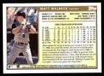 1999 Topps #136  Matt Walbeck  Back Thumbnail