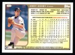 1999 Topps #332  Andy Ashby  Back Thumbnail