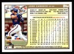 1999 Topps #80  Jose Canseco  Back Thumbnail