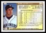 1999 Topps #294  Mark Leiter  Back Thumbnail