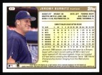 1999 Topps #401  Jeromy Burnitz  Back Thumbnail